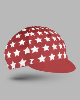 Red cycling hat