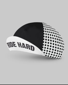 Black & white cycling cap
