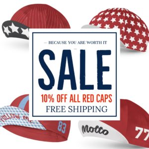Red Cycling Hats